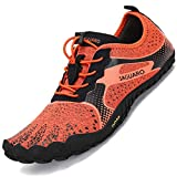 SAGUARO Minimalistas Zapatillas de Barefoot Trail Running para Mujer Antideslizante Five Fingers Calzado Minimalista Portland Orange 38 EU