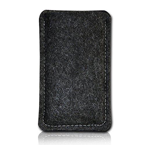 sw-mobile-shop Filz Style Lenovo Tablet A7-40 - 7 Zoll Filz Tablet Tasche Hülle Etui Einschubtasche passgenau für Lenovo Tablet A7-40 - 7 Zoll - Farbe schwarz - grau