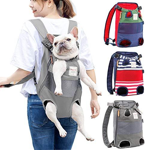 PETCUTE Mochilas para transportador Perros Grandes y Medianas Piernas Bolsa de Transporte para Mascotas Gatos Ajustable para para Caminatas, Viajes Soporte de hasta 12 kg