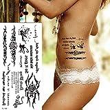 3ps-Body art sticker tattoo pegatina negra sirena muñeca tatuaje 3ps-