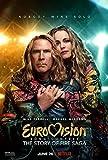 Concurso de la canción de Eurovisión: Leyenda del fuego (2020) Will Farrell Comedia/Música Póster de película Imágenes de arte Decoración Sala de estar Dormitorio Lienzo -20x30 pulgadas Sin marco