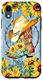iPhone XR Sunflowers Cowboy Boots And Hat Western Cowgirl Rodeo Girl Case