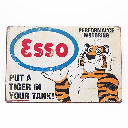 Esso Put a Tiger in Your Tank, Metal Tin Sign, Wall Decorative Sign By 66retro