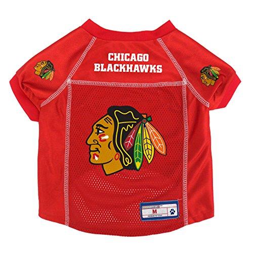 Little Earth NHL Chicago Blackhawks Pet Jersey, Light Red, Med