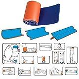 Férula de Emergencia Impermeable y Reutilizable Primeros Auxilios Férula Fija Equipo de Respuesta de Emergencia Suministros de Primeros Auxilios para Pierna Brazo Cuello Rodilla Mano Deportes al Aire