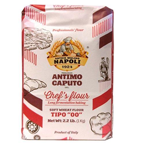 """Antico Molino Caputo Chef's Flour Tipo """"00"""" 1 Kg (Four 2.2 Lb Bags)"""