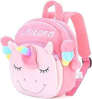 Mochilas de peluche con diseño de unicornio en 3D, regalo para bebé, equipaje de regreso a la escuela, uso de viaje, rosa oscuro (Rosa) - 197401413072916