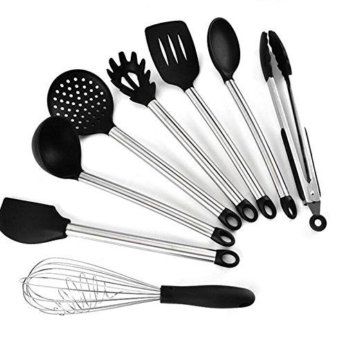 pdhu 8/Set Küche Kochutensilien Aluminiumguss Werkzeug Servierzange Löffel Spatel Werkzeug-Set