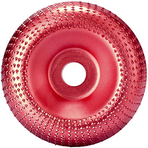 Intaglio Legno Mola Disco Angle Grinder Disco Abrasivo Lucidatura Modellatura Disco 16mm Utensile Rotante Disco Taglio per Modellare Lucidare Levigatura Intaglio Macinazione Piatto Ruota (rosso)