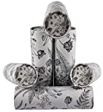 Facial Tissues 3-ply Perfect Car Tissue Holder for Travel & Home Improved Soft Quality Designed for Fun by Crabtree Collection (6-Pack Vintage Floral Canisters)