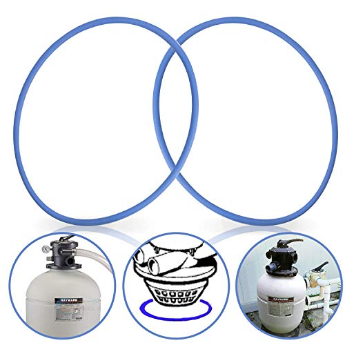 GORNORVA 2 Pack GMX600F Valve O-Ring Replacement Tank O-Ring Gasket Replacement for Hayward Pro Series Sand Filter S144T SP071620T, Valve O Ring for Hayward Pool Filter Parts
