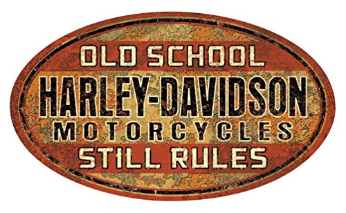 Harley-Davidson Old School Still Rules Tin Sign, 17.5 x 10.4375 inches 2012061