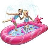 BATURU Toddler Pool,Splash Pad for Kids/Toddler, Kiddie Pool for Backyard, Outdoor Splash Play Mat Outdoor Water Toys for Kids Age 3+ (Narwhal)