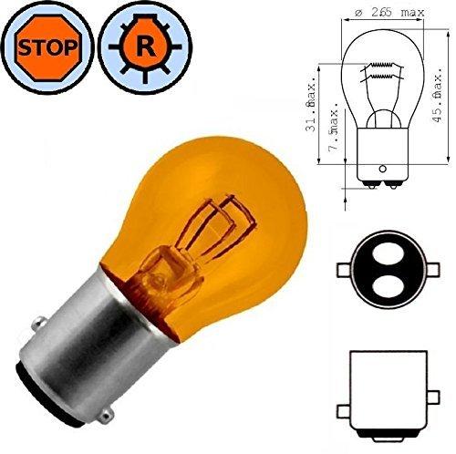 AMPOULE 12V 21/5W BAY15D ORANGE LAMPE FEU STOP ARRIERE VEILLEUSE ERGOT DECALE VOITURE AUTO MOTO SCOOTER PHARE CLIGNOTANT