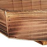 Relaxdays Dekoschale, 2 Stück, geflammtes Holz, Gartendeko zum Bepflanzen, Vintage Design, eckiges Pflanzengefäß, Natur - 7