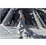 Eisprinzessin zu Fuß auf der Treppe selbstklebende Poster