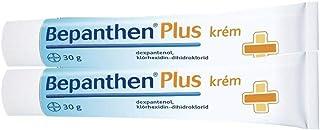 BEPANTHEN PLUS Cream 60g (2x 30g) GROTE MAAT - Luier Uitslag Dermatitis - Wonden snijdt Brandwonden Huidirritatie Ontsteki...