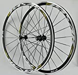 LSRRYD Cerchio 700C Coppia Ruote Bici da Corsa Superleggere Ruota di Bicicletta Freno C/V 7-11 velocità Hub per Cassette Cuscinetto Sigillato 6T QR 1650g (Color : E, Size : 700c)