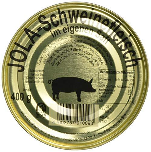 Jola Schweinefleisch in eigenem Saft, (1 x 400 g Dose)