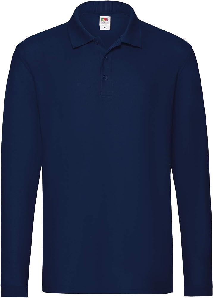 Fruit of the loom premium long, polo,maglietta per uomo,100% cotone 63-310-0