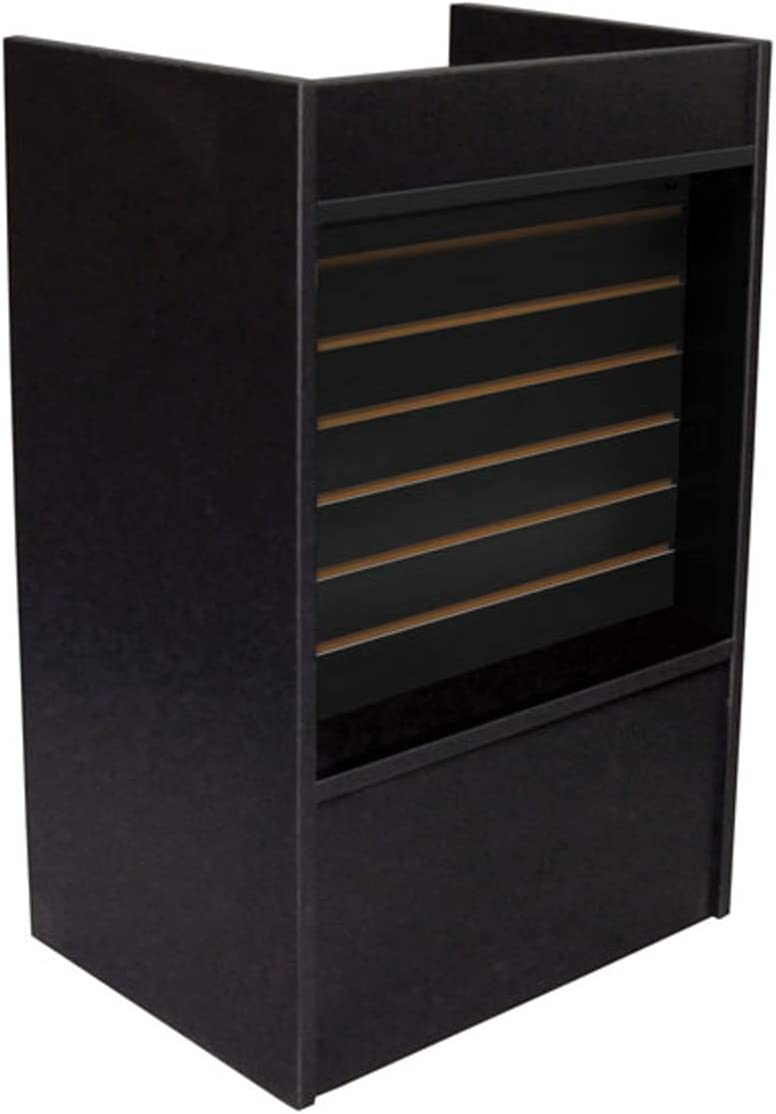 Slatwall Front Well-Top Register Selling and selling Stand in Black 38 specialty shop 24 D W 18 x