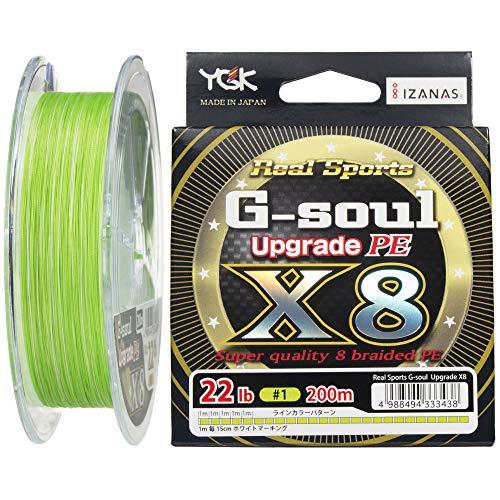 よつあみ(YGK) PEライン Gソウル X8 アップグレード 200m 1号 22lb 8本 グリーン