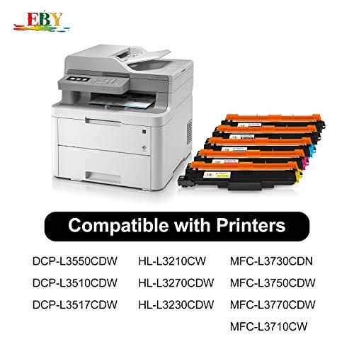 EBY TN247 TN243 Cartuchos de Toner Compatible con Brother DCP-L3550CDW HL-L3210CW HL-L3230CDW HL-L3270CDW MFC-L3750CDW DCP-L3510CDW MFC-L3770CDW MFC-L3710CW MFC-L3730CDN