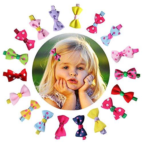 CHIC-CHIC Couleur Random 10 Pièces/Lot Pince à Cheveux Nœud Princesse Déguisement Clips Cheveux Pour Fille Enfant Fillette