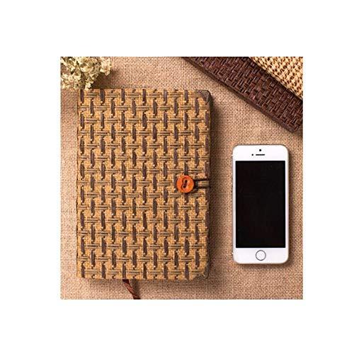 Xyhcs Cuaderno - Bloc de Notas Hecho a Mano Creativo Creativo, Simple y Exquisito, Caja, Color: marrón Oscuro, marrón Claro (Color : Light Brown 2)