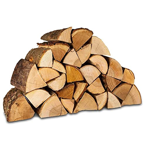 Logpile Kiln Dried Hardwood Firewood Logs. 15 Kg. Suitable for All Stoves, Fireplaces and Fires. Ready to Burn Accredited and Sustainably Sourced.