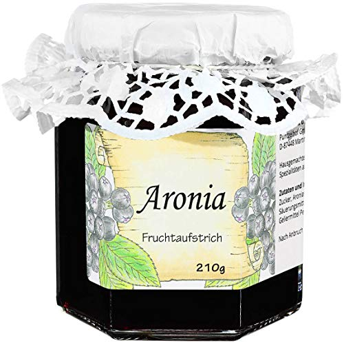 Aronia Konfitüre - Apfelbeere Fruchtaufstrich - 210g Feinkost Fruchtaufstrich aus dem Allgäu