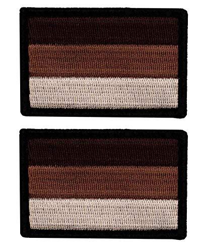 Café Viereck ® B&eswehr Deutschland Flaggen Patch Gestickt mit Klett - 6 cm x 4 cm (2X Coyote/Sand)