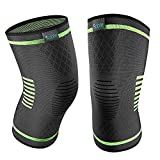Upgraded Knee Brace 2 Pack Compression Sleeves Support for Women & Men, Wraps Pads for Running, Pain Relief, Injury Recovery, Basketball and More Sports