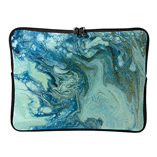 Regular Marble Texture Laptop Bags Durable Theme Modern Style Tablet Case Suitable for Business Trip White 13 Zoll