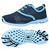 ALEADER Women's Quick Drying Aqua Water Shoes Blue 6.5 D(M) US