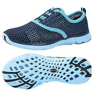 ALEADER Women's Quick Drying Aqua Water Shoes Blue 8.5 D(M) US