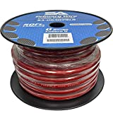 Seismic Audio - SA-0GAWPSL02-50 Foot Spool of 1/0 Gauge Power Amplifier Ground/Power Wire for Car Audio - Red Amp Wire
