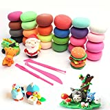 Air Dry Clay, EDIFON 24 Colors DIY Modeling Clay for Kids and Adluts, Ultra-Light Magic Clay with 3 Sculpting Tools, Non-Toxic and Eco-Friendly Art Craft Clay