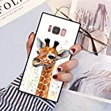 Samsung Galaxy S8 Plus Squared Case Heavy Duty Protection Shock Absorption Slim Soft TPU Edge and Hard PC Case Cover for Samsung Galaxy S8 Plus Cute Young Giraffe Design
