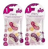 Nip Cherry - Paquete doble de ventosas redondas para chica, látex, talla 1 (0-6...
