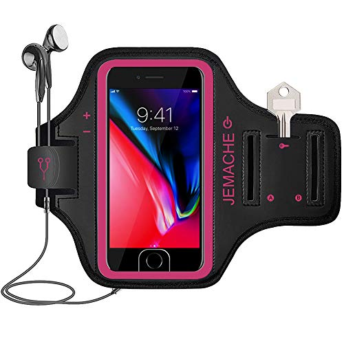 iPhone 7/8 Plus Armband, JEMACHE Gym Running Workout Exercise Pouch Phone Holder Arm Band Case for...