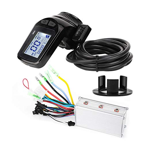 Rosvola Pantalla del Controlador de Scooter, Pantalla LCD de Scooter eléctrico Estable y Sensible a Metal + plástico, para batería de Plomo-ácido, Litio y Hierro