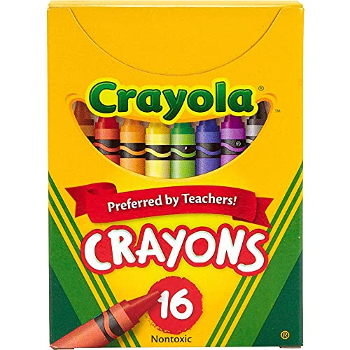 Classic Color 16 Pack Crayons, Crayons For Kids, School Crayons, Assorted Colors - 16 Crayons Per Box - 1 Box