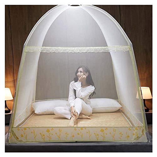 Meet World Pop Up Moskitonetz, tragbare Zelt Reise Doppeltür Reißverschluss Bett Netz, einfache Installation und feine Masche, perfekt für Schlafzimmer im Freien ,4,120*20OCM