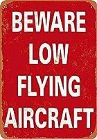 低飛行機スカーフレトロサインヴィンテージ金属ポスタープラーク警告サインアイアンアート壁掛け壁