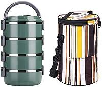 ラーメンどんぶりランチボックス304ステンレス鋼食品容器漏れ防止断熱ランチバッグ子供と大人積み重ね可能なランチボックスお椀