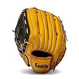 Franklin Sports Baseball and Softball Glove - Field Master - Baseball and Softball Mitt Tan ,12.5'