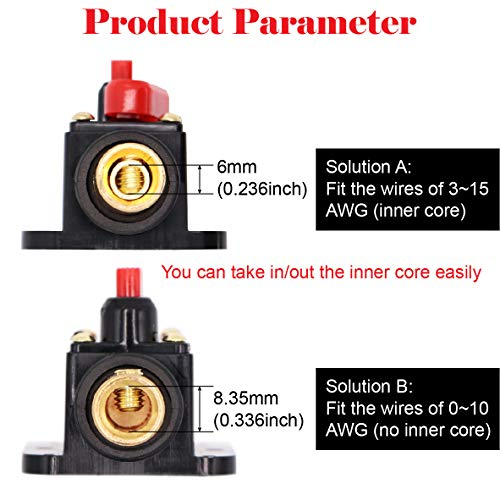 2 Piece 50A 50 Amp Circuit Breaker with Manual Reset Fuse Holder for Car Audio Marine Boat Stereo Switch Inverter Replace Fuses