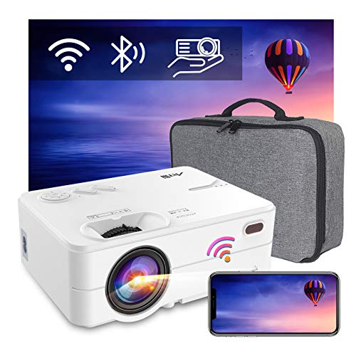 Proyector Portatil WiFi Bluetooth 6500 Lúmenes, Artlii Enjoy2 Mini Proyector Soporta 1080p...