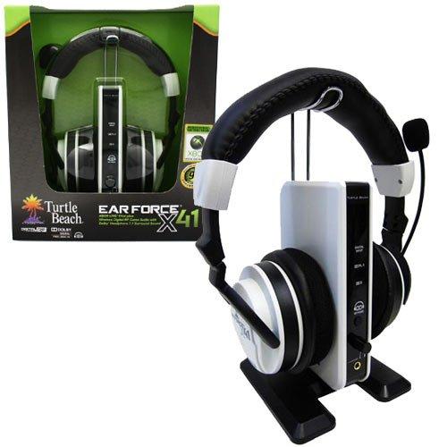Best Buy! Xbox 360 Turtle Beach Ear Force X41 Wireless Headset 360 Ear-cup Binaural Earphones